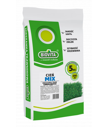 Cieńmix grass seeds mix for shady places