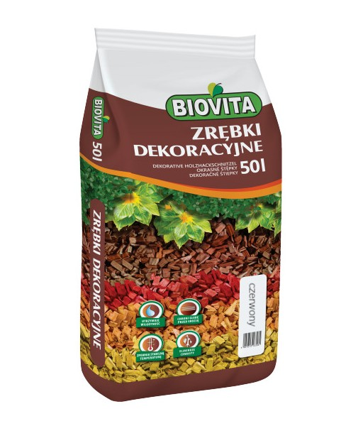 Decorative red WOOD CHIPS