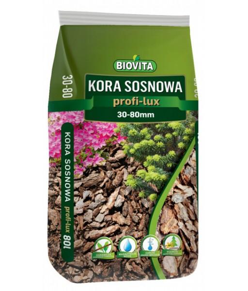 Kora sosnowa profi-lux. BIOVITA 30-80 mm 80L
