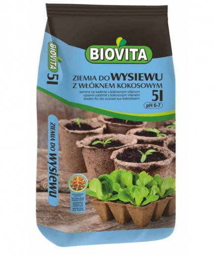 Soil for sowing seeds with coconut fiber