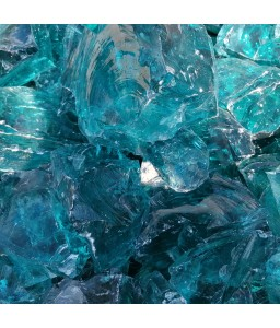 Garden glass gabion turquoise size L