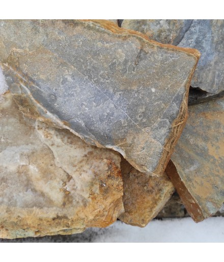 Tile aqua multi quartzite 3-5 cm