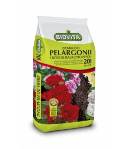 Soil for geraniums and plants grown on balconies