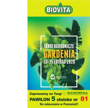 We invite you to our stand at Gardenia.